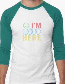Peace, I'm Outa Here Men's Baseball ¾ T-Shirt