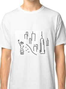 new York the Statue of Liberty skyscraper Classic T-Shirt