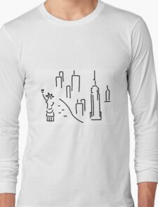 new York the Statue of Liberty skyscraper Long Sleeve T-Shirt