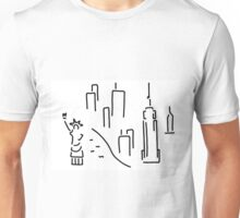 new York the Statue of Liberty skyscraper Unisex T-Shirt