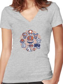 Mario Essentials Women's Fitted V-Neck T-Shirt