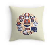 Mario Essentials Throw Pillow