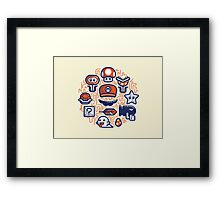 Mario Essentials Framed Print