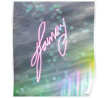 Signed Bokeh Effect Series Poster