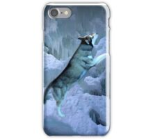 A SHIMMER OF LIGHT AS I STAND ALONE IN LEAPS AND BOUNDS-HUSKEY CANINE PILLOW AND OR TOTE BAG ECT.. iPhone Case/Skin