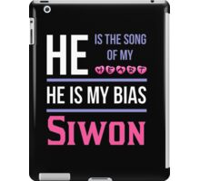 HE IS MY BIAS BLACK - SIWON iPad Case/Skin