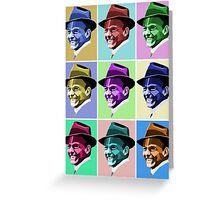 Frank Sinatra Pop Art Greeting Card