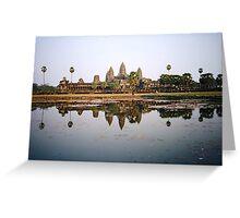 classic sunset shot of angkor watt Greeting Card