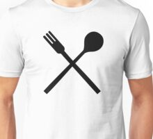 Cutlery spoon fork Unisex T-Shirt