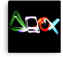 Playstation Symbols Light Painting Canvas Print