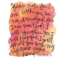 Isaiah 41:10 Watercolor Print by Bumble & Bristle