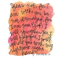 Isaiah 41:10 Watercolor Print by Bumble & Bristle