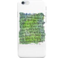 Matthew 11:28-30 Watercolor Print iPhone Case/Skin