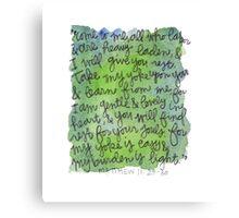 Matthew 11:28-30 Watercolor Print Canvas Print