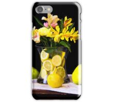 Peruvian Lilies With Lemons And Pears iPhone Case/Skin