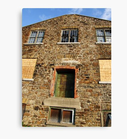 Old Stone Abandoned Warehouse  Canvas Print