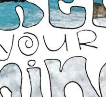 "Beachy ""Free Your Mind"" Sticker"