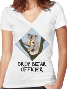 Drop Bears Preservation Society Women's Fitted V-Neck T-Shirt