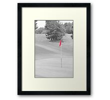 red flag Framed Print