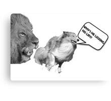 Funny Dog, Lion Merchandise! Canvas Print