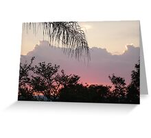 Sunset in Africa Greeting Card