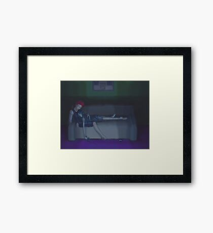 Late night gaming Framed Print
