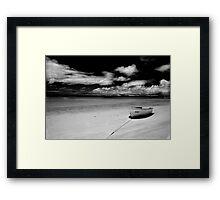 Island Beach in monochrome Framed Print