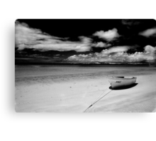 Island Beach in monochrome Canvas Print