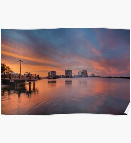 Cotton Tree Sunset-0697 Poster