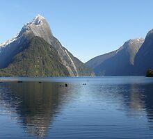 Mitre Peak, Milford Sound, New Zealand by Flavio  Alvarenga