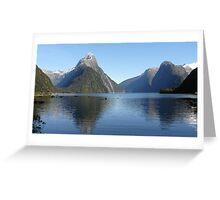 Mitre Peak, Milford Sound, New Zealand Greeting Card