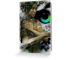 owl woman Greeting Card