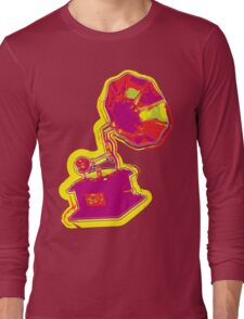 Psychedelic Gramophone Long Sleeve T-Shirt