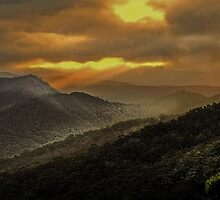 Sunset at Tallebudgera Valley by Murray Swift