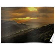 Sunset at Tallebudgera Valley Poster