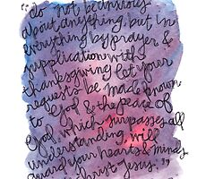Philippians 4:6-7 Watercolor Print by Bumble & Bristle