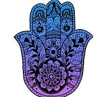 Purple Blue Ombre Hamsa by foreversarahx