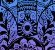 Purple Blue Ombre Hamsa Sticker