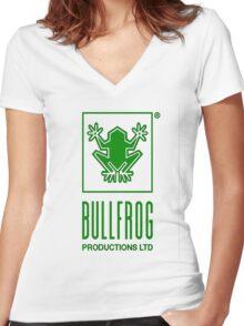 Bullfrog Women's Fitted V-Neck T-Shirt