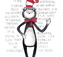 Cat in the Hat Watercolor by Bumble & Bristle