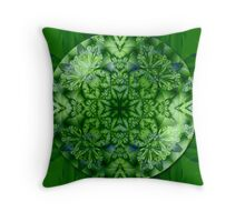 The green bubble Throw Pillow