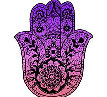 Purple Pink Ombre Hamsa by foreversarahx