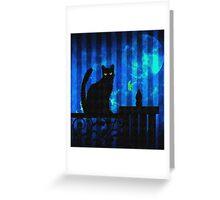 Cat at Dusk Greeting Card