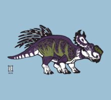 Purple and Green Pachyrhinosaurus Kids Clothes
