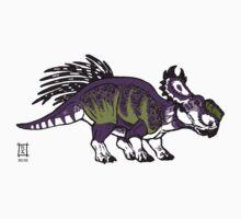 Purple and Green Pachyrhinosaurus Kids Clothes