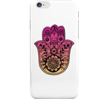Pink Orange Ombre Hamsa iPhone Case/Skin