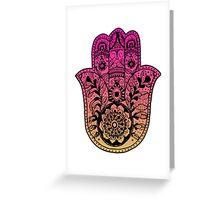 Pink Orange Ombre Hamsa Greeting Card