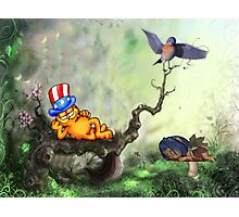 garfield relaxing Photographic Print
