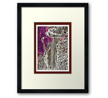 contextual skeleton part I. Framed Print