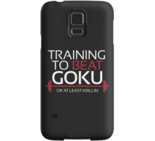 Training to beat Goku - Krillin - White Letters Samsung Galaxy Case/Skin
